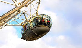 London Eye Carriage. Photograph of Carriage of the London Eye Stock Photo