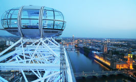 London Eye and cityscape Stock Photography