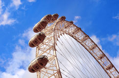 London Eye. Close up of pods Royalty Free Stock Image