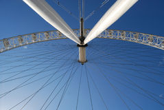 London Eye. Close up of structure Stock Photos