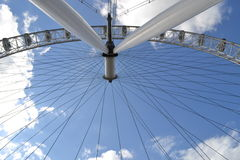 The London Eye a Worms Eye View  Stock Photography