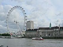 The London Eye and County Hall Royalty Free Stock Image