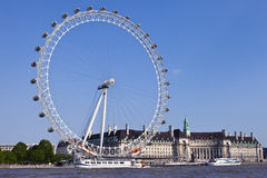 The London Eye, County Hall and the River Thames Stock Photo