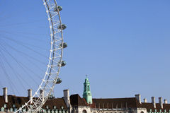 The London Eye and County hall Royalty Free Stock Images