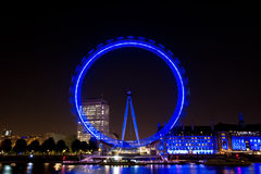London Eye in the dark Stock Photos