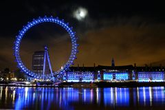 London eye. LONDON - 26 DECEMBER: London eye scene at the night time on December 26, 2012 in London Stock Image