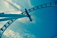 London Eye Deconstructed Royalty Free Stock Photo