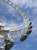 London Eye detail. The London Eye is the most popular attraction of the UK and the tallest Ferris Wheel in Europe at 135 meters 443 feet Royalty Free Stock Image