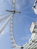 London Eye detail. The London Eye is the most popular attraction of the UK and the tallest Ferris Wheel in Europe at 135 meters 443 feet Stock Photography