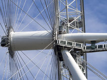 London Eye detail. The London Eye is the most popular attraction of the UK and the tallest Ferris Wheel in Europe at 135 meters 443 feet Stock Photos