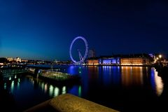 London Eye in the Distance across river. royalty free stock photo