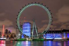 London Eye do banco norte fotografia de stock