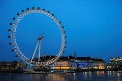 The London Eye At Dusk Stock Photo