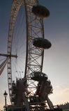 The london eye at dusk stock photo