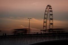 London Eye at dusk Stock Images