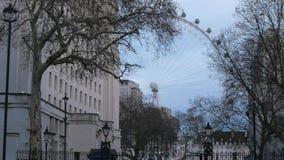 London Eye en Londres Southbank almacen de metraje de vídeo