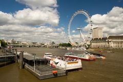 London Eye in England royalty free stock photography
