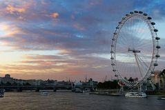 The London Eye stock photos