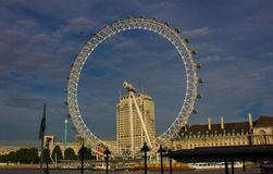 The London Eye in London stock photos