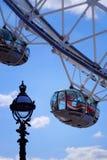 London Eye. The London Eye Ferris wheel is a major London tourist attraction affording stunning views over London stock photo