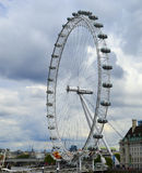 London Eye Ferris Wheel Overcast day in England Royalty Free Stock Photography