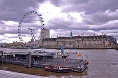 London Eye Ferris Wheel Stock Photo
