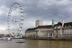 London eye ferry wheel Royalty Free Stock Photos