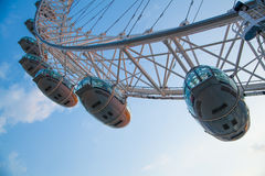 London eye is a giant Ferris wheel opened on 31 December 1999 Royalty Free Stock Photography