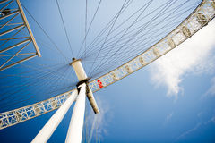 The London Eye is a giant Ferris wheel situated on the banks of the River Thames in London, England. Royalty Free Stock Photos
