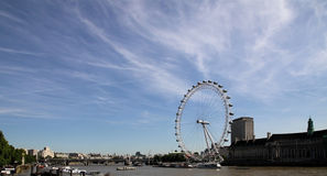 The London Eye is a giant Ferris wheel situated on the banks of the River Thames, in London, England, United Kingdom Stock Photography
