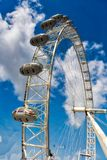 London Eye. The London Eye is a giant Ferris wheel on the South Bank of the River Thames in London Royalty Free Stock Photo