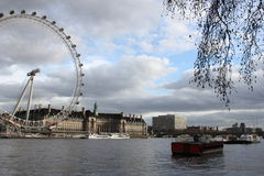 London eye. Good view on London: rive, historical place, boat Stock Image