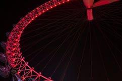 Details of beautiful London Eye ferris wheel at night Stock Images