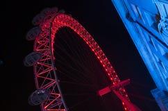 Details of beautiful London Eye ferris wheel at night Stock Photos