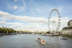 Nice outdoors photo with details of the London Eye ferris wheel. London Eye Great Britain, October 12 2017, Nice outdoors photo with details of the ferris wheel stock images