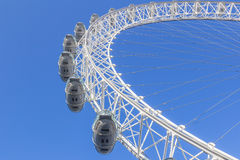 London Eye from the ground Royalty Free Stock Photos