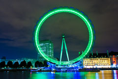 The London Eye illuminated at night Royalty Free Stock Photo