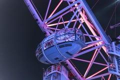 London Eye illuminated at night - London England  UK. London Eye illuminated at night - London England - United Kingdom Royalty Free Stock Image