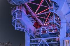 London Eye illuminated at night - London England  UK. London Eye illuminated at night - London England - United Kingdom Royalty Free Stock Photo