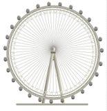London Eye. Illustration of London Eye, giant wheel in London stock illustration