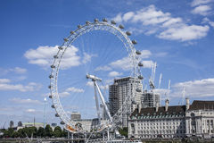 London - The London Eye. This image shows a view of the London Eye against the blue skies Royalty Free Stock Images