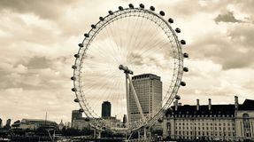 The London Eye in Landscape Stock Photography