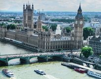 The London Eye perspective in Britain Royalty Free Stock Photography