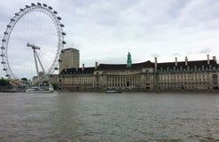 London Eye - Londen, Engeland stock afbeelding