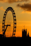 London Eye in London royalty free stock image