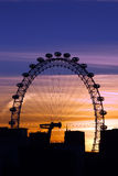 London Eye in London royalty free stock photos