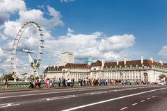 London Eye in London. Stock Images