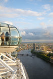 London Eye in London city. View the London Millennium Eye, travel and tourism Royalty Free Stock Images