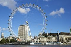 London Eye, London. London Eye construction, London ,UK Royalty Free Stock Images