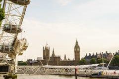 London Eye, London, England, the UK. Royalty Free Stock Images